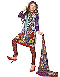 Variation Women's Multi-Coloured Crepe Unstiched Dress Material (VD11902)