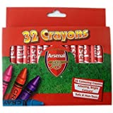 Arsenal Fc Stationery 32 Crayons Colouring Pack