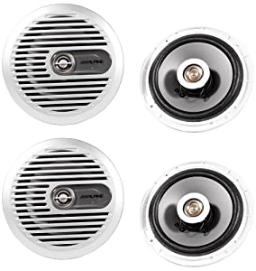 "(2) Pairs Alpine Sps-m600 6.5"" 2 Way Marine Coaxial Speakers from Alpine"