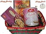 Diwali / Bhaidooj Gift Hamper - Haldiram Soan Papdi, Haldiram Rasgulla in a Beautiful Basket