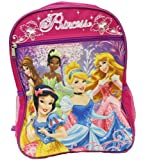 NEW Pink Disney Princess Officially licensed Backpack Schoolbag Bag for Kids Her