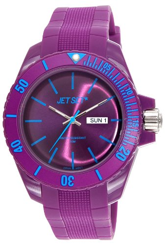 Jet Set - J83491-14 - Bubble - Montre Mixte - Quartz Analogique - Cadran Violet - Bracelet Caoutchouc Violet