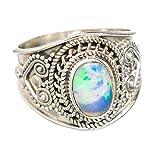 Ethiopian Opal, Opale Éthiopienne Argent Sterling 925 Bague 8