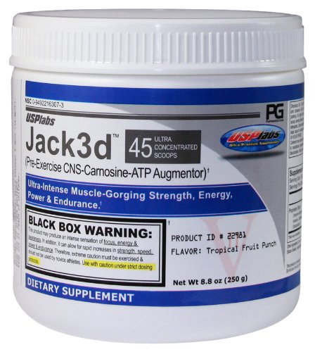 USPlabs Jack3d, Grape Bubblegum, 250 Grams, 8.8 -Ounce Jar