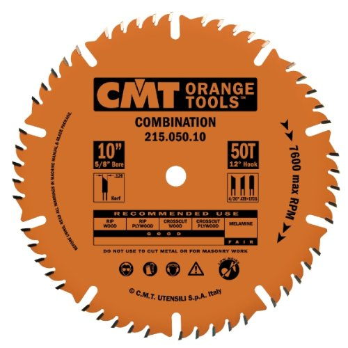 CMT 215.060.10 Industrial Combination Saw Blade, 12-Inch, Diameter, 60 Teeth, 1-Inch, Bore, 0.126 Kerf, 0.087 Plate, 4ATB Teeth+1TCG Tooth, 12-Degree Hook Angle