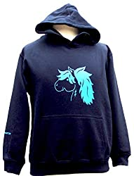 Personalised Kids Horsey Hoodie - Featuring Flash The Pony On Front And Back £24.99 Plus P&p