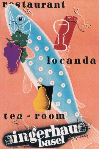 Art Poster, Singerhaus Basel: Restaurant, Locanda, Tea-Room - 12x18