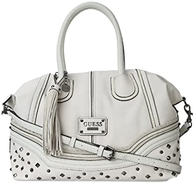 GUESS Women's Chelsea Satchel, CHALK