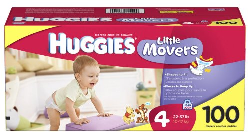 Pampers Size Chart Huggies Little Movers Diapers Size 4 100 Count