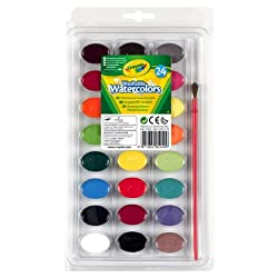 [Best price] Arts & Crafts - Crayola Washable Watercolors 24ct Pan w/brush - toys-games