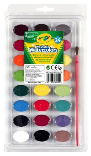 Crayola Washable Watercolors, 24 Count (53-0524) front-1081285