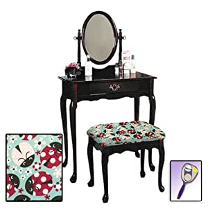 Vanity Table Mirror Chair Finish dp BFDDP