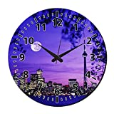MeSleep Night Vision Wall Clock With Glass Top