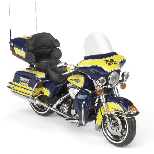 Highway 61 / DCP Michigan Wolverines Football Harley-Davidson Ultra Classic Electra Glide Diecast Motorcycle 1:12