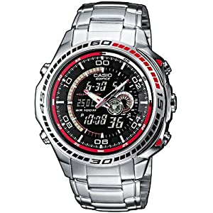 casio edifice men 39 s watch with thermometer watches. Black Bedroom Furniture Sets. Home Design Ideas