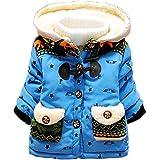 Pandaren® Blousons unisexe bébé enfants fille garçon hiver manteau chaud de coton matelassé en peluche outwear pardessus Combinaisons de neige (éléphant) (12-18 mois, Bleu)