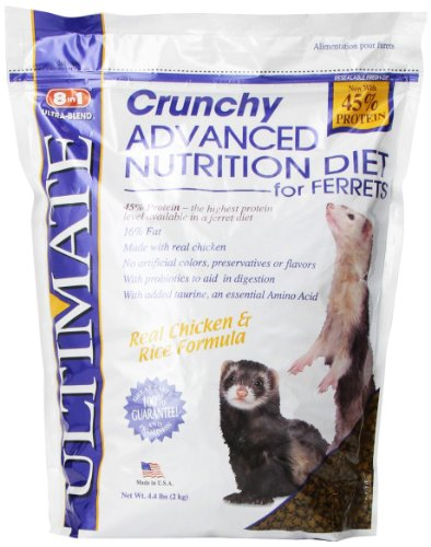 8 In 1 Ultimate Crunchy Advanced Nutrition Diet for Ferrets, 4.4-Pound