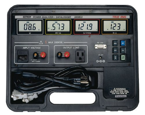 True RMS Power Analyzer Datalogger - Extech - EX-380803 - ISBN: B000LDLHRQ - ISBN-13: 0793950308035