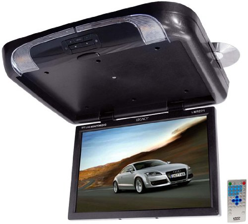 Legacy LMRD21 T Feet Flip Down Roof Mount with Built-In DVD/SD/USB Player/Wireless FM Modulator and  IR Transmitter