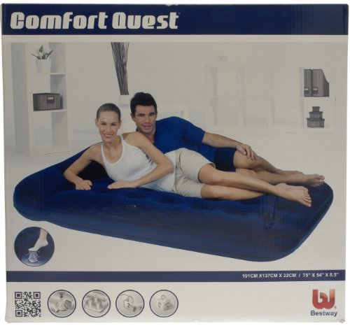 Bestway Easy-Inflate Double Airbed - Blue
