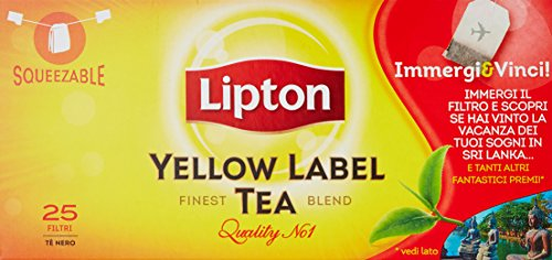 Lipton - Yellow Label Tea, Te' Nero - 25 filtri