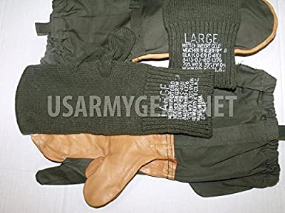 Army Cold Weather Military Trigger Finger Hunting Sniper Gloves Mitten Insert L Large