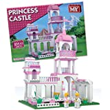 MY GIRLS PRINCESS CASTLE BRICK BLOCKS SET BUILDING KIDS CONSTRUCTION TOYS