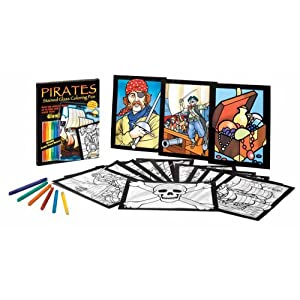 Pirates Stained Glass Coloring Fun (Stained Glass Colouring Books) Dover and John Green