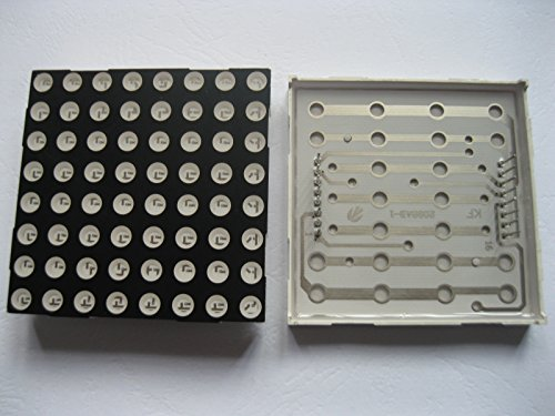 40 Pcs Dot Matrix Led Display 5 Mm 8X8 Red Common Cathode 60X60Mm 16Pin