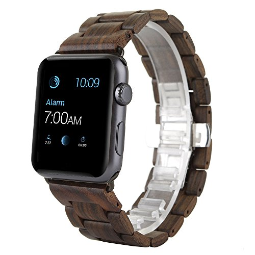 apple-watch-bandcbin-42mm-ebony-wood-replacement-strap-wrist-band-for-apple-watch-sport-edition-iwat