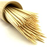 "BambooMN Brand Premium Round Sharp Point Bamboo Skewers 8.3"" X 3mm - 300pc"