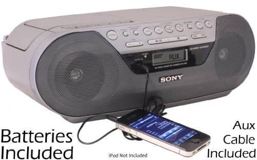 Sony Portable AM/FM Radio Tape Cassette Recorder & CD Player with Program