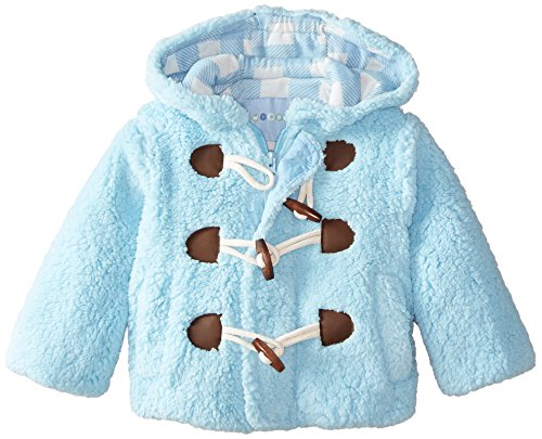 Wippette Baby Boys' Toggle Sherpa Jacket, Blue, 24