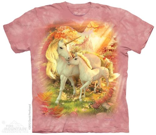 The Mountain Mother & Baby Unicorns T-Shirt - Child - X-Large front-644171