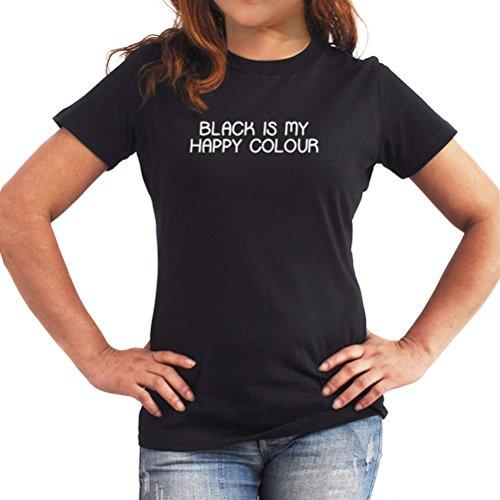 Maglietta da donna Black is my happy colour