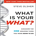 What is Your WHAT?: Discover the One Amazing Thing You Were Born to Do Audiobook by Steve Olsher Narrated by Sean Pratt
