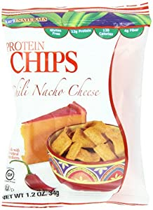 Kay's Naturals Protein Chips, Chili Nacho Cheese, 1.2 ounces (Pack of 6)