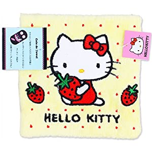 [Hello Kitty] coin de towel Strawberry yellow Hello Kitty handy towel series (japan import)