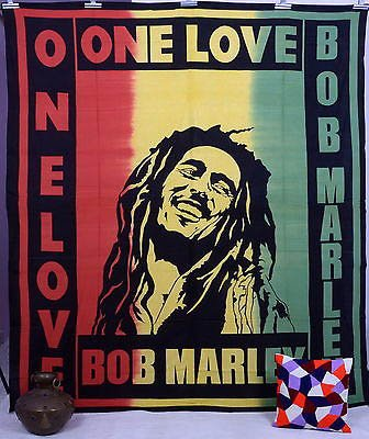 One Love Tapestry Wall Hanging Throw Poster Flag Cotton Textile 94*84