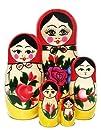 Babushka Semenov Nesting Dolls 5 piece set
