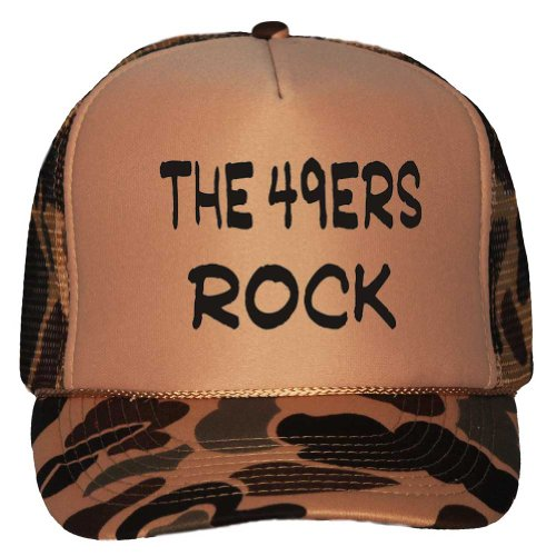 The 49ers Rock Adult Brown Camo Mesh Back Hat / Baseball Cap at Amazon.com