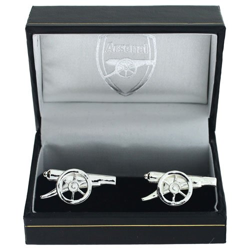 Arsenal official Silver plated Cannon Cufflinks football jewellery