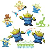 Wallables 3D Wall Décor - LGM (3 green aliens) from Disney / Pixar Toy Story 1, 2 and academy award winning Toy Story 3, 3-Dimensional Soft Foam Toy Wall, Now with Bonus repositional decals!Décor