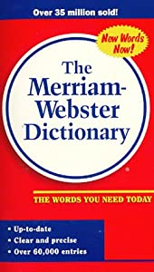 "Cover of ""The Merriam Webster Dictionary ..."