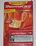 Thermacare Heatwraps - Lower Back & Hip - L to XL - 2 (+ 1 Bonus) Heat Wraps - One Package