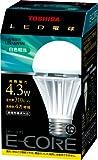 TOSHIBA E-CORE LED電球 一般電球形4.3W(白色相当) LEL-AW4N
