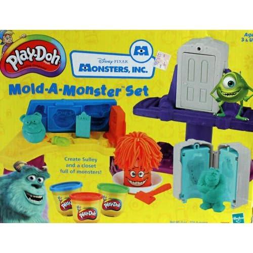 Amazon.com: Play-Doh Disney Pixar Monsters Inc. Mold-A-Monster Set