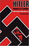 img - for Hitler--Memoirs of a Confidant book / textbook / text book
