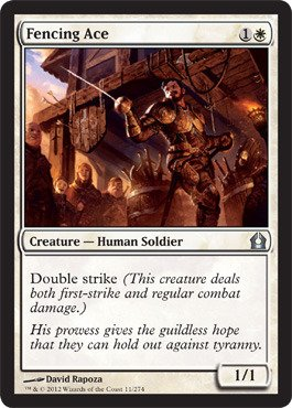 Magic: the Gathering - Fencing Ace (11) - Return to Ravnica - Foil (Fencing Ace Mtg compare prices)
