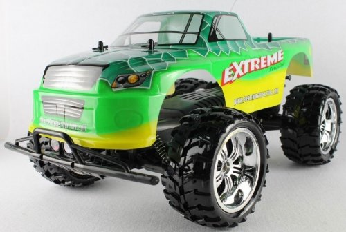 Radio Control EXTREME 1:10 Scale 9.6v licensed monster truck complete kit with all batteries and charger FF+RTR